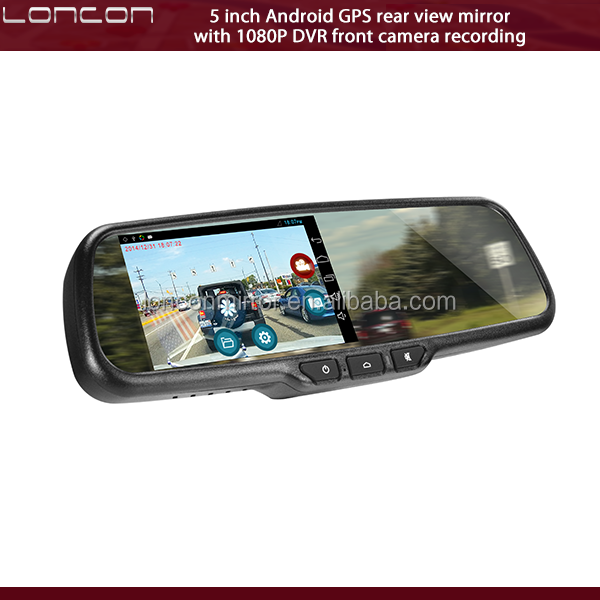 GPS & navigation rear view mirror with 5 inch Android system