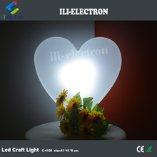 Rechargeable colorful changing plastic LED Heart lights