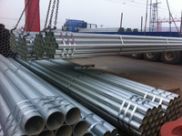 construction material BS1387 hot dipped galvanized steel pipe/Lowest Price/Top quality
