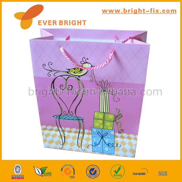 women shopping paper bag, gift wrapping pape bag