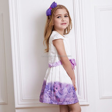 digital printed fancy lavender dress girl dress,dreaming girls dresses