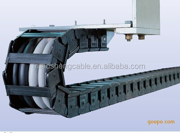 plastic and steel drag chain cable wire track plastic cable tray