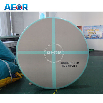 Round aqua gym inflatable air tumbing mat with customs logo