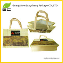 China high quality customized photo printing recycled pp non woven laminated handle bag