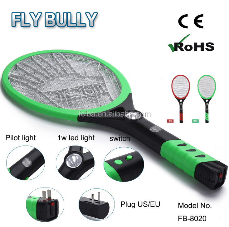 best seller product electric fly swatter three layers insects killer