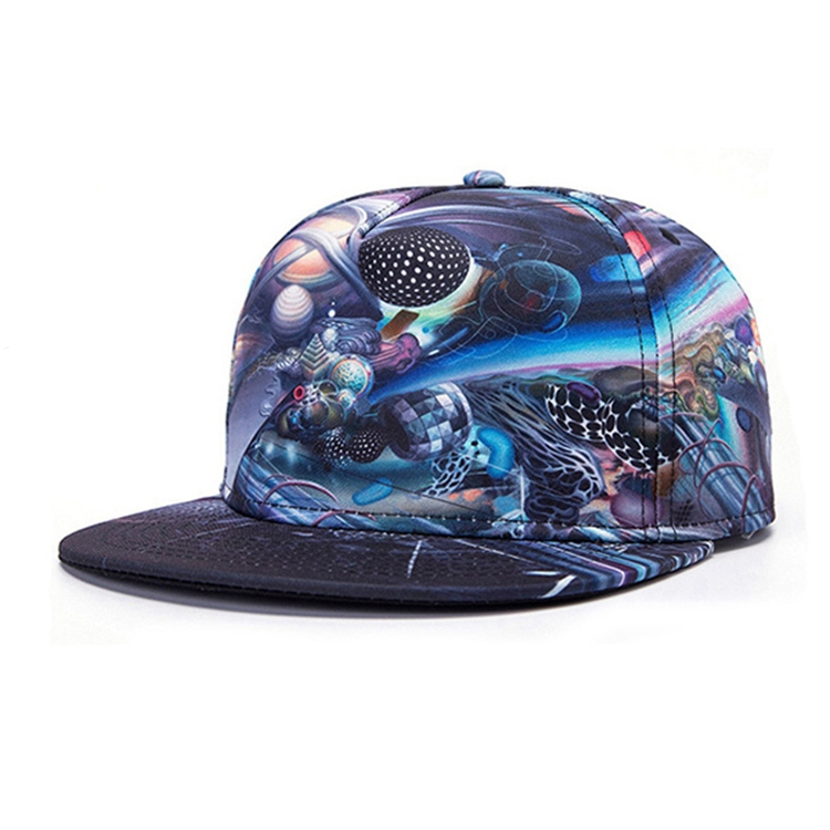 Fashion Adjustable Sublimation Printed Design Snapback <strong>Hat</strong>