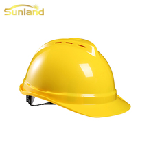 Yellow color ABS materials V types industrial construction <strong>safety</strong> the helmet