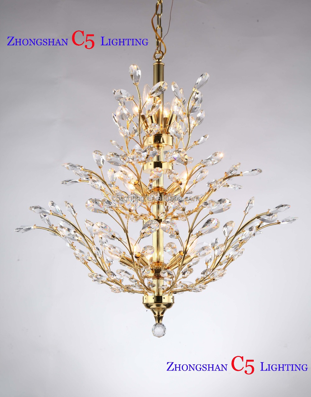 Made in china chandeliers k9 crystal pendant lighting 2 tiler made in china chandeliers k9 crystal pendant lighting 2 tiler hanging flush mount gold finish buy made in china cheap price crystal lamps md42054 18lmade aloadofball Choice Image