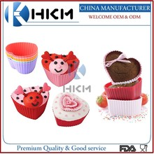 Multi color silicone muffin cups/silicone baking cup set/silicone cupcake and baking cup