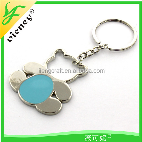 cute bear design metal key chain wedding gift key ring
