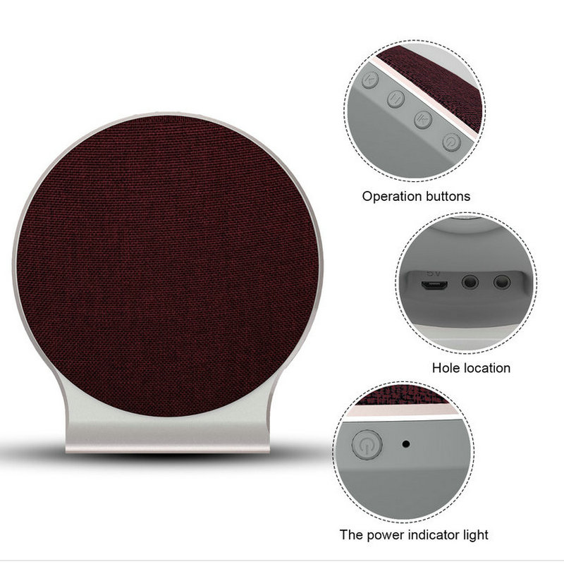 Newest Fashion Fabric Art Aluminum Alloy Wireless Bluetooth Speakers