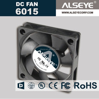 Alseye CB1663 manufacturer plastic fan guard dc cooling fan 12v 24v 6015 IP68 motor solar fan