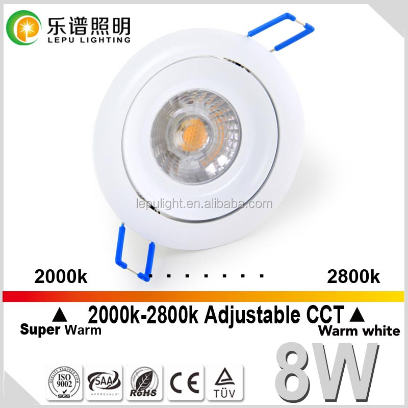 unique design high quality sharp cob 83mm cutout cob led downlight with TUV SAA NEMKO certification