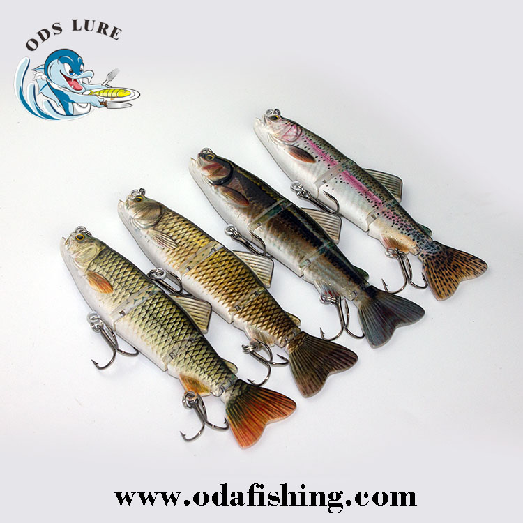 fishing supplies 4 section jointed lures import fishing tackle