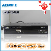 Global popular FTA DVB-T2 tv Receiver driver usb digital car dvb t2 digital cheap tv receiver