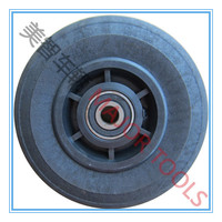 8x2 hard rubber plastic mixed tyre