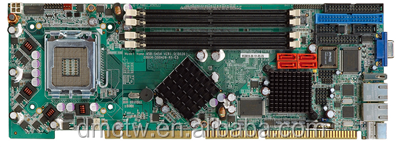 Full-size PICMG 1.0 CPU Card supports LGA 775 Intel Core2 Duo, Pentium D, Pentium 4 and Celeron D Processors