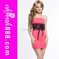 Pink party mature ladies sex club wear dress