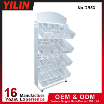 China Quality Supermarket Metallic Newspaper Display Rack