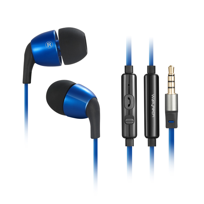 Wallytech Honeybee Earphones with Microphone for Android and for iPhone