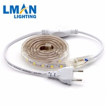 220V 60leds 5050 RGB Led Flexible UV Strip lights reflector SMD5050 With Plastic Cover