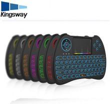 Backlight Keyboard H9 Mini Hand-held Wireless QWERTY Keyboard 2.4GHz Air Mouse Touchpad for Android TV BOX