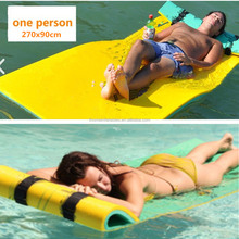 270x90cm Environmental XPE foam water float mat Soft foam swimming pool bed water floating mat for single person