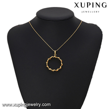 64234 Xuping alibaba artificial women copper alloy new selling fashion circle styles 24k gold plated two pieces set