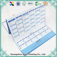 Blank Paper 2014 Printable Folding Printing Desk Calendar With Sticky Note Pad