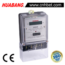 DDS228 single phase two wire Electronic power kwh meter LCD display long terminal or short terminal ABS material case