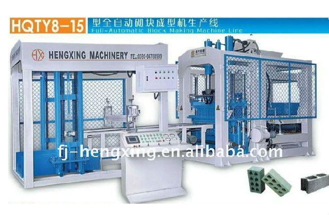 Hot Sale for HQTY8-15 Fully Automatic Cement Concrete Block Brick Machine