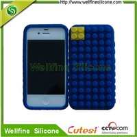 Non-slip silicone mobile phone case for I phone 4 case