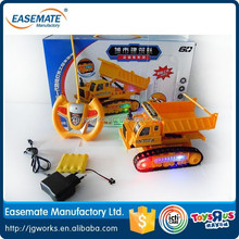 novelty 4 channel remote control diggers toy transport car with flash light cars truck rc truck trailer