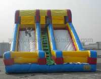 Hot sale inflatable double lane slip slide,inflatable dry slide M4052