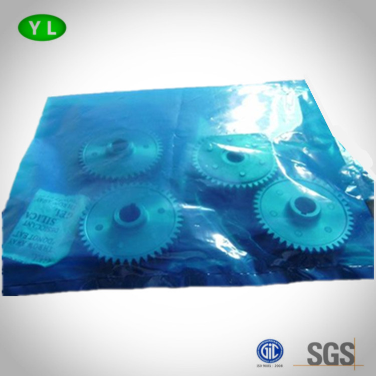 Blue VCI polybag for protecting metal antirust plastic bag