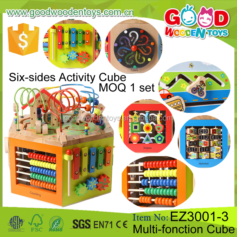 Continued Selling Multi-function Wooden Cube Toy Educational Six-sides Cubes Child <strong>Game</strong> for Kids