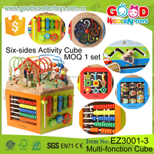Continued Selling Multi-function Wooden Cube Toy Educational Six-sides Cubes Child Game for Kids