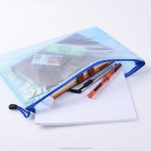 A4 Envelope Document Holder Mesh File Bags with Zipper,PVC Organizer Storage Bag for Cosmetics Offices Supplies Travel
