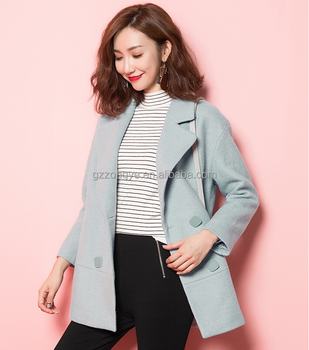 fashion slimmed down shorts wool woolen cloth winter coat for women