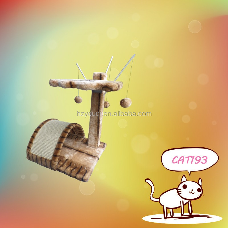 Cat Tree House Toy With Resting Nest Area Scratch Post