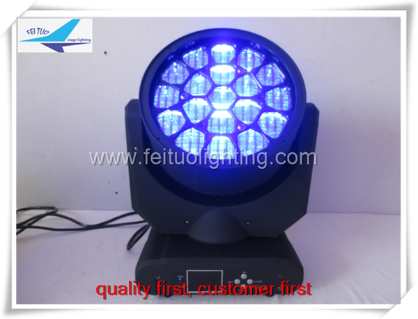 Popular product led rotating stage light 19X12W beam bee eye led moving head light 4 in1 light