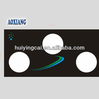 Hot! Customized gas stove glass 4mm-19mm 3 holes Gas Hob Tempered Glass Panels /cooking range parts