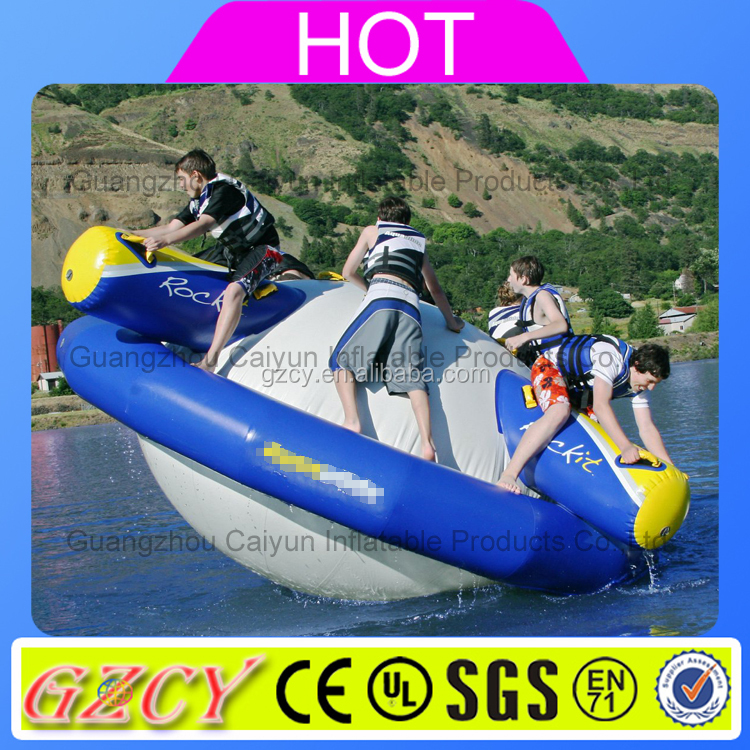 Lake floating water inflatable saturn water game toys for sale