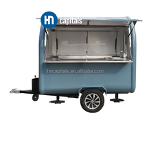 Towable customized colorful mobile fast bakery food cart trailer for sale