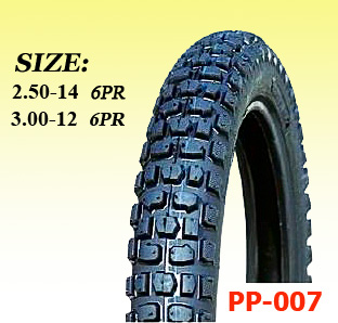 off road pattern PP-007 SIZE motorcycle tire 2.50-14, 3.00-12