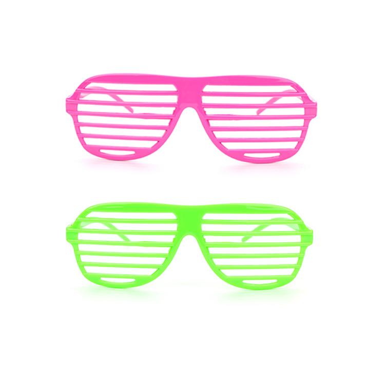 24 pcs Plastic Shutter Shades Glasses Sunglasses Eyewear Club Party Props