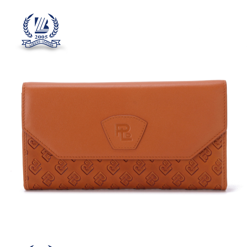 Brand luxury European style top leather lady handbag woman wallet