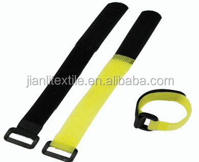 Plastic buckle magic tape hook and loop strap cable tie
