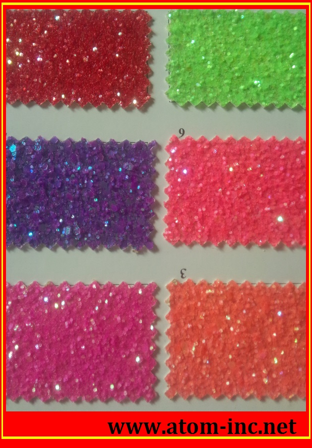 2016 new design shining lace glitter PU synthetic leather