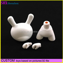 white dunny toy made in china/custom pvc blank vinyl figure/child toy education plastic pvc action figure dunny